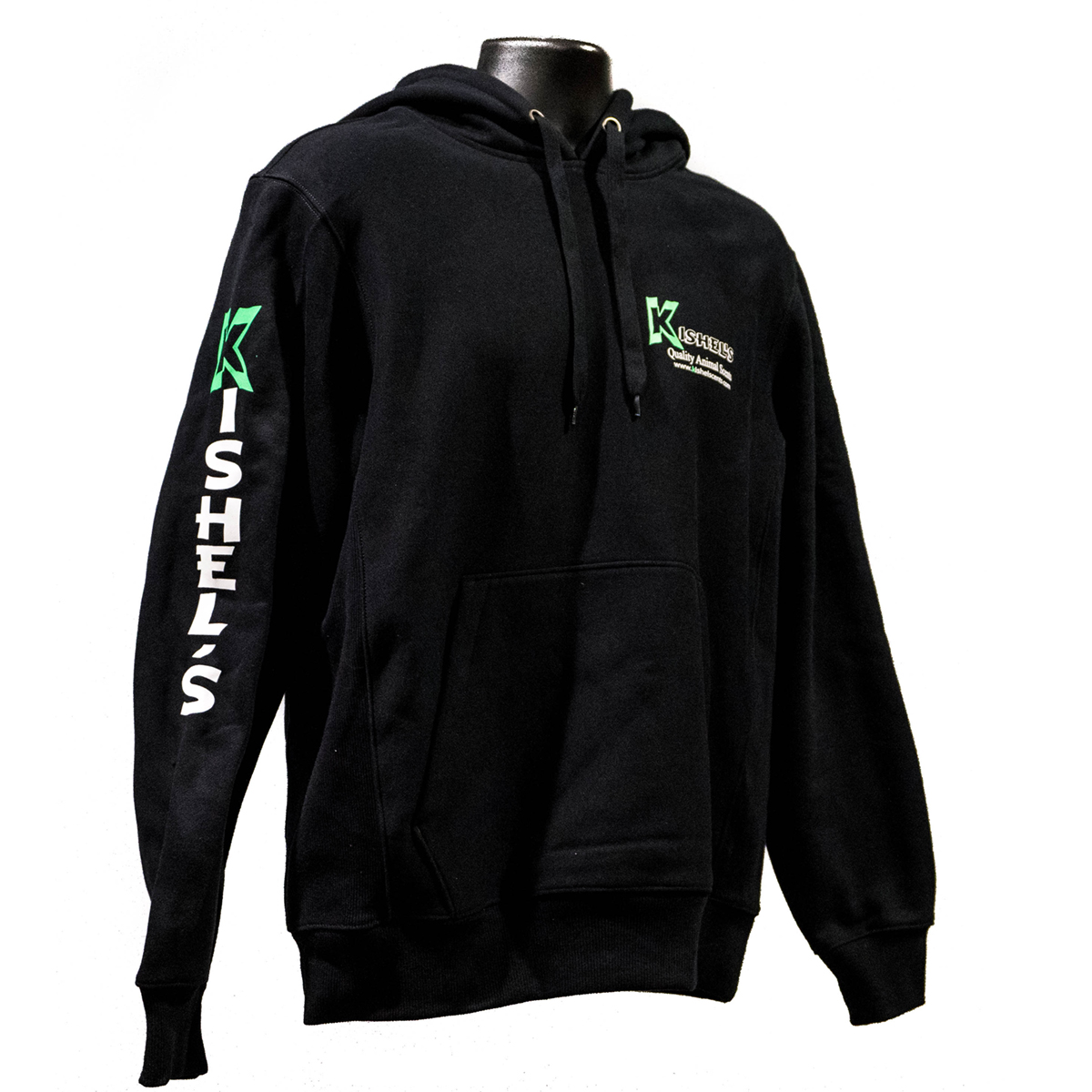 kishels scents black hooded sweatshirt